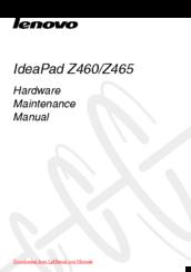 Lenovo IDEAPAD Z465 Manuals