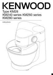 Kenwood KM280 series Manuals