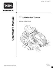 Toro GT2200 Manuals