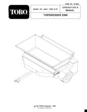 Toro topdresser 2300 Manuals