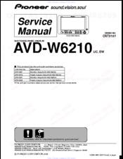 Pioneer AVD-W6210 Manuals
