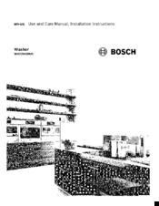 Bosch wat28400uc Manuals