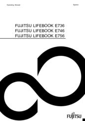 Fujitsu lifebook e736 Manuals