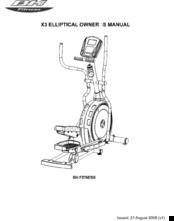 Bh Fitness X3 ELLIPTICAL Manuals