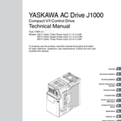 Yaskawa J1000 Wiring Diagram Toyota Tundra Fog Light Cimr Jc Series Manuals We Have 5 Available For Free Pdf Download Technical Manual Quick Start