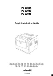 Olivetti PG L2040 Manuals