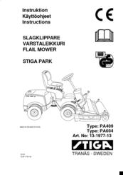 Stiga PA409 Manuals