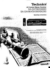 Technics SA-GX490 Manuals