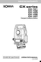 Sokkia CX-105 Manuals