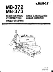 Juki MB-372 Manuals