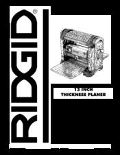 Ridgid Tp1300 Manual