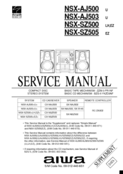 Aiwa NSX-SZ500 Manuals