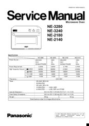 Panasonic Sonic Steamer NE-3280 Manuals