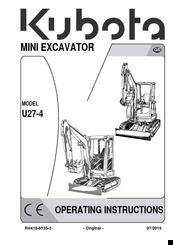 Kubota U27-4 Manuals