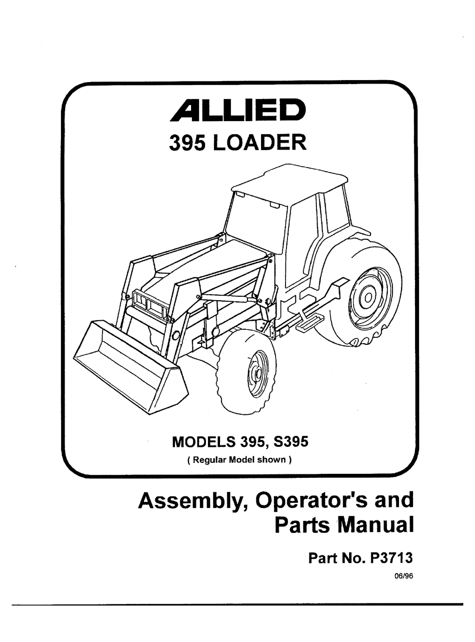 BUHLER ALLIED 395 ASSEMBLY, OPERATOR'S AND PARTS MANUAL