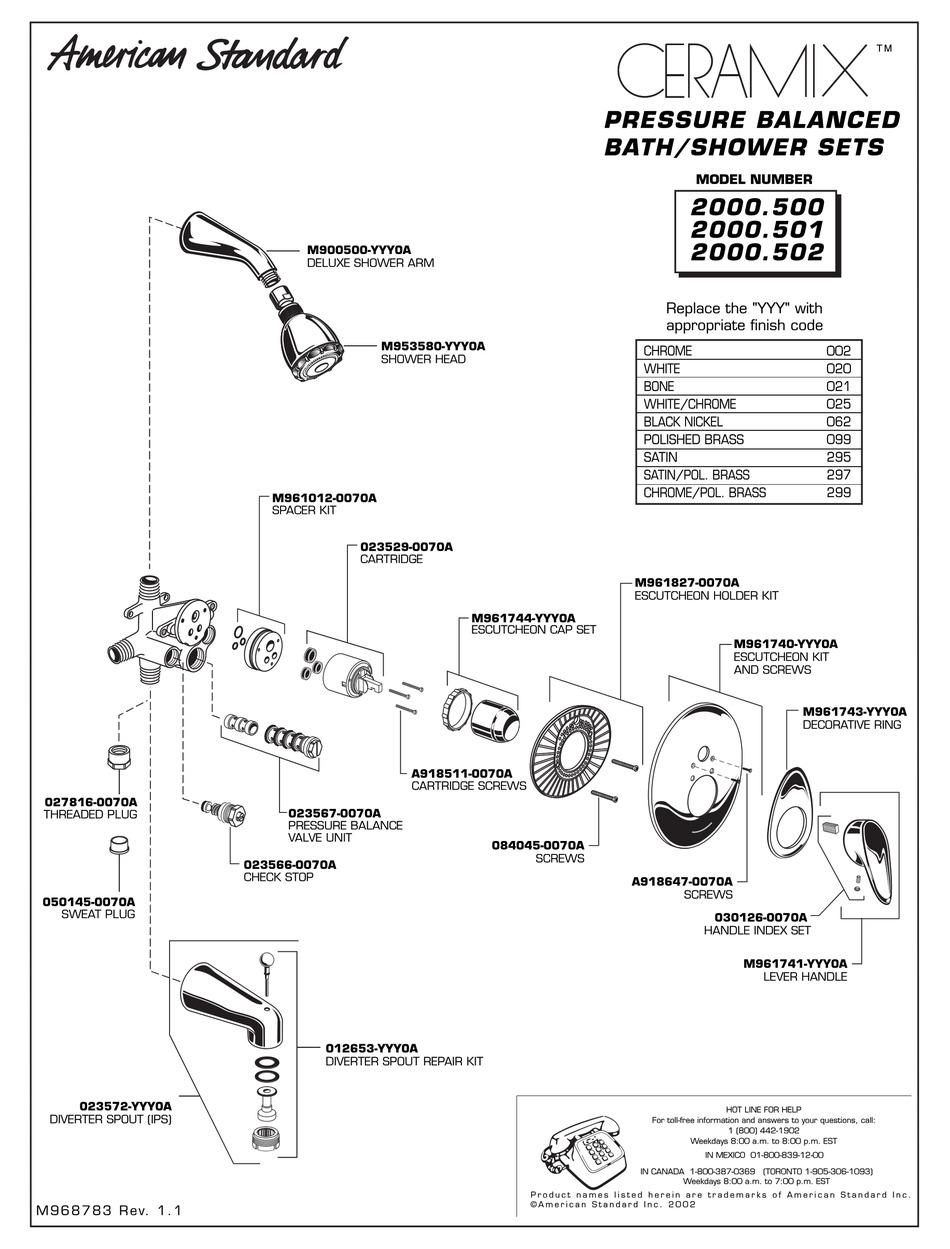 american standard ceramix 2000 500