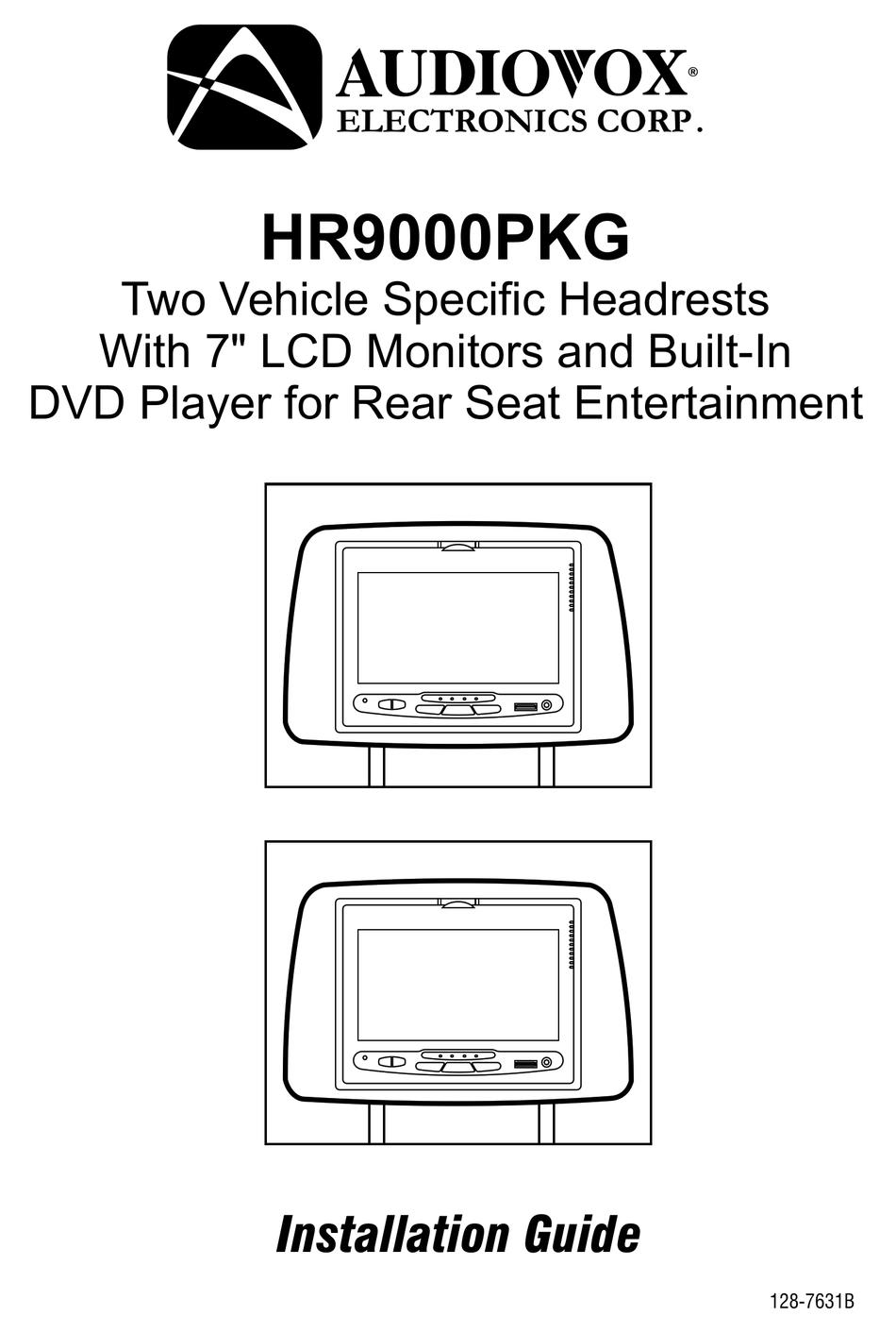AUDIOVOX HR9000PKG INSTALLATION MANUAL Pdf Download