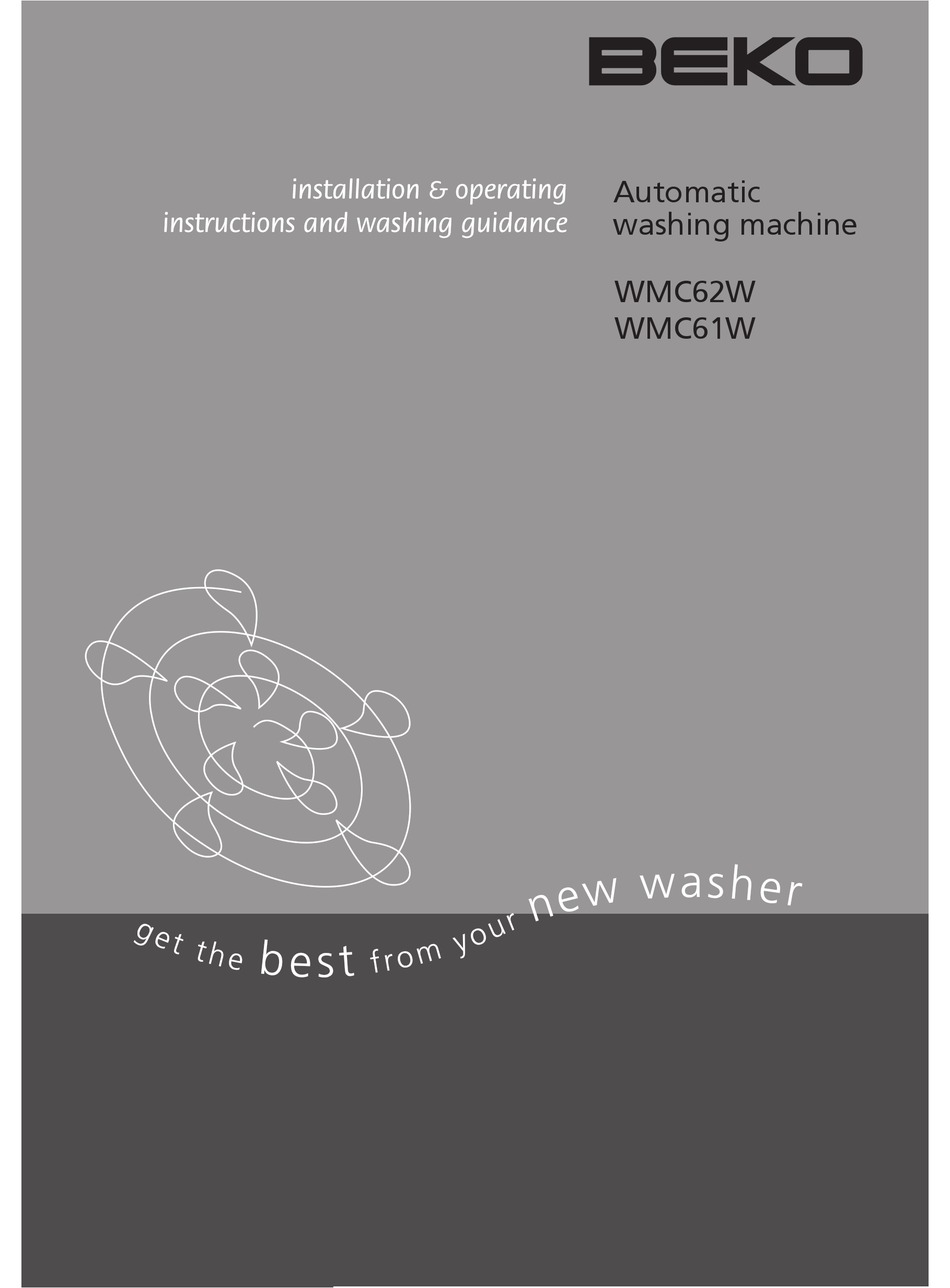 BEKO WMC61W INSTALLATION & OPERATION MANUAL Pdf Download