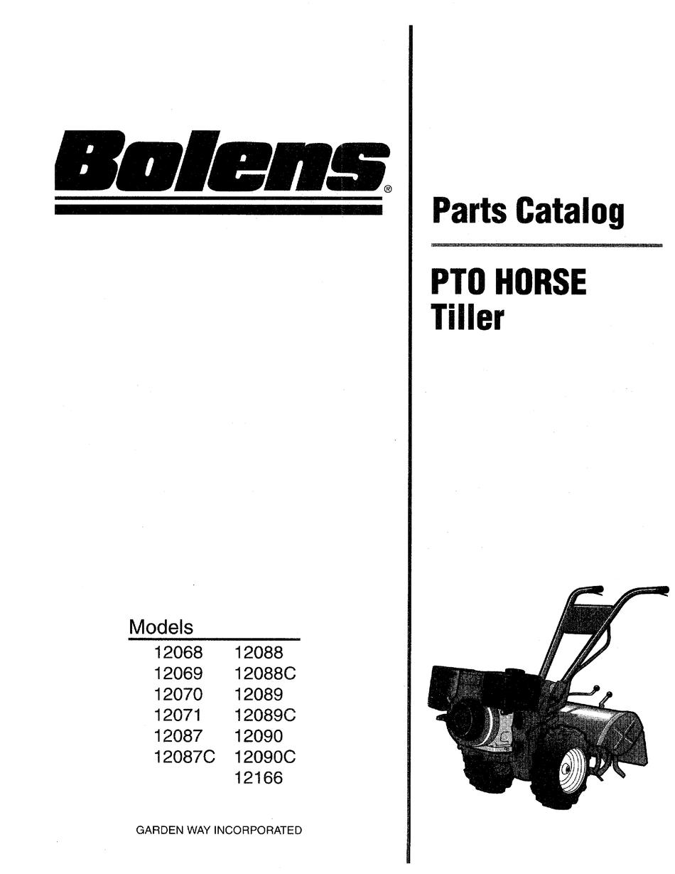 BOLENS PTO HORSE 12087C PARTS CATALOG Pdf Download