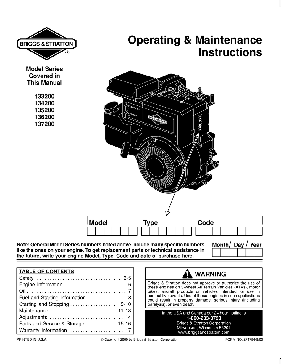 Briggs And Stratton Repair Manual Pdf Free / Read Briggs