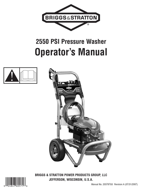 BRIGGS & STRATTON 020306-0 OPERATOR'S MANUAL Pdf Download