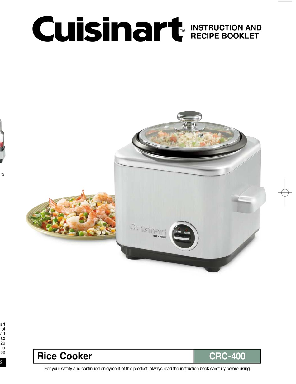 cuisinart crc 400 instruction and