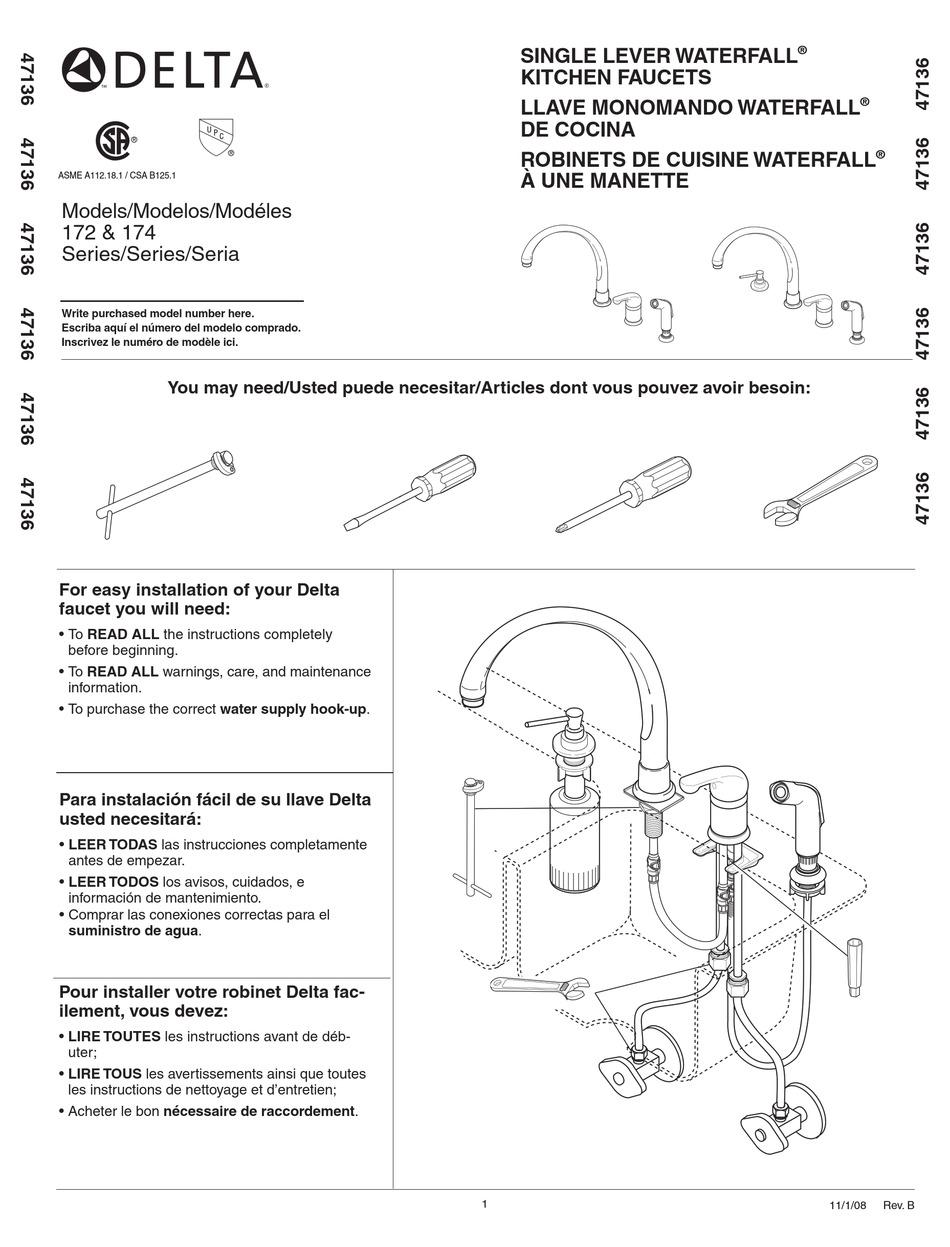 delta 172 series installation manual