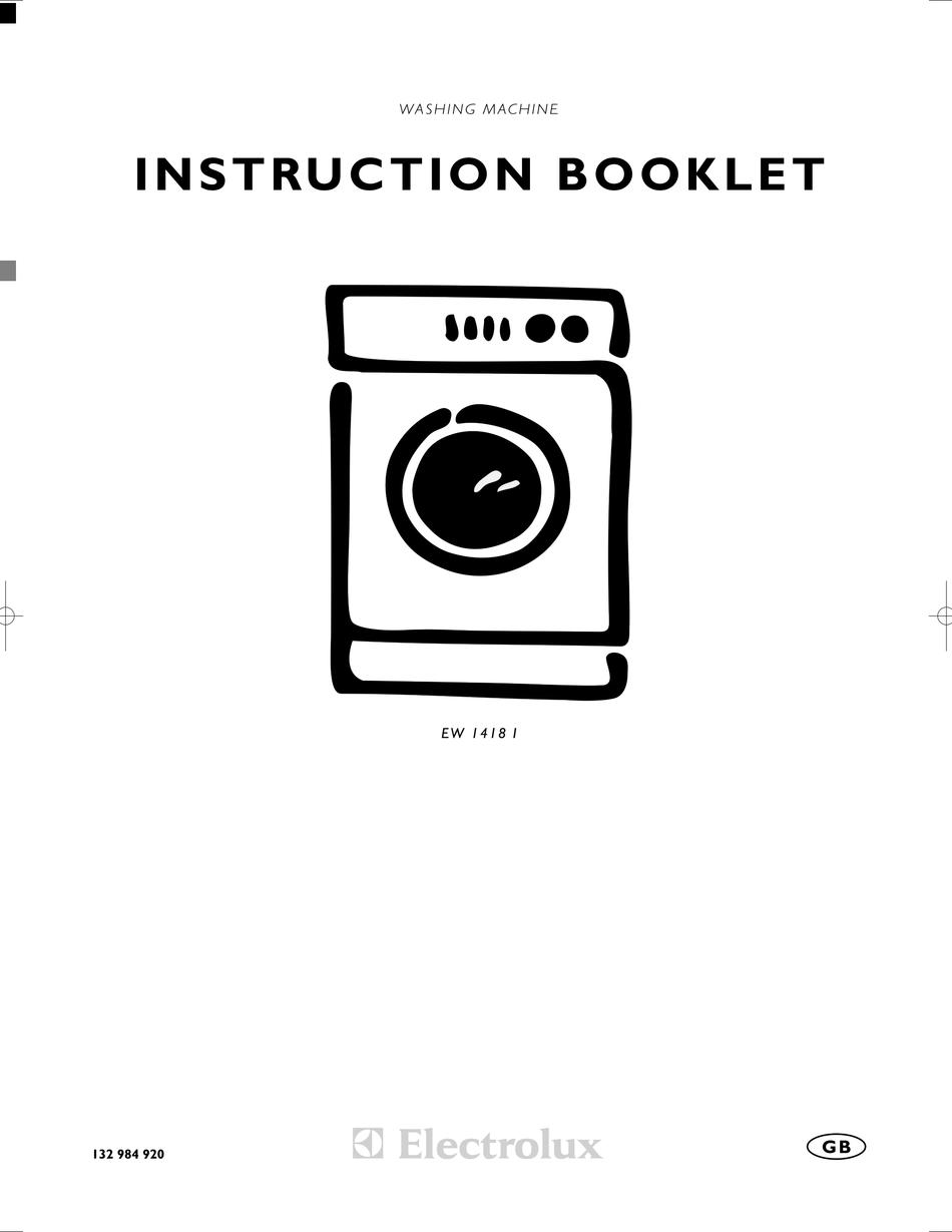 ELECTROLUX EW 1418 1 INSTRUCTION BOOKLET Pdf Download