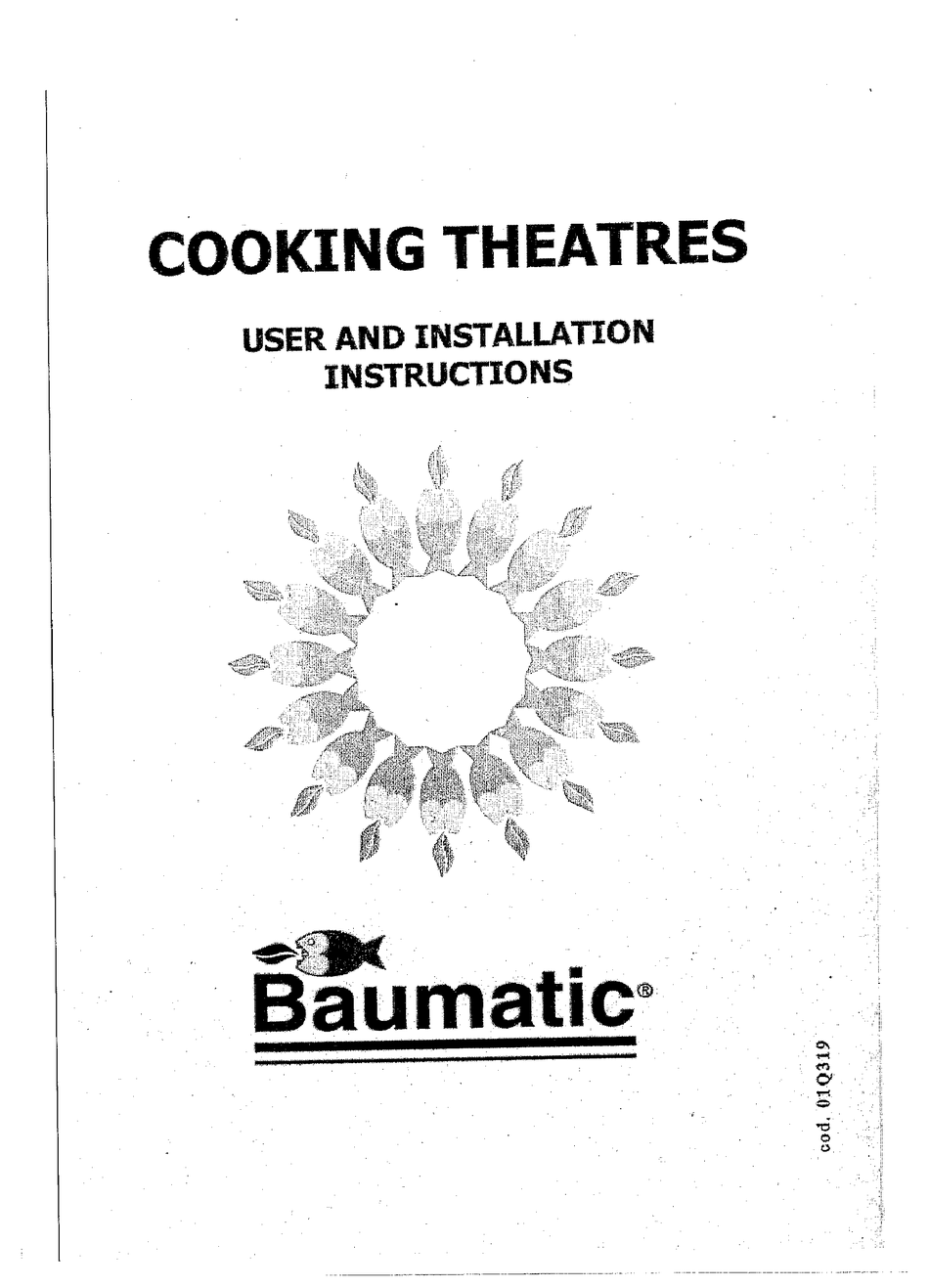 BAUMATIC BT3400SS USER AND INSTALLATION INSTRUCTIONS