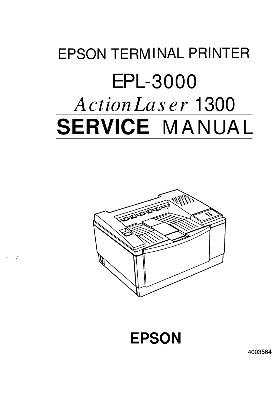 EPSON ACTIONLASER 1300 EPL-3000 SERVICE MANUAL Pdf