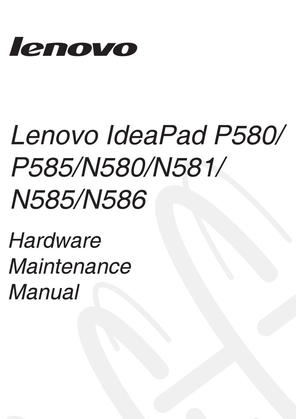 LENOVO IDEAPAD N585 HARDWARE MAINTENANCE MANUAL Pdf
