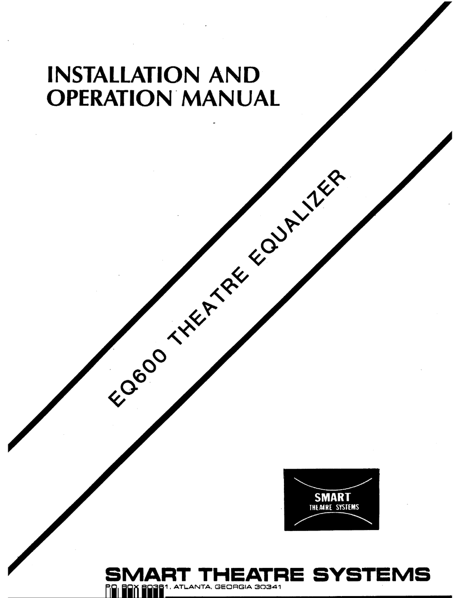 SMART EQ600 INSTALLATION AND OPERATION MANUAL Pdf Download