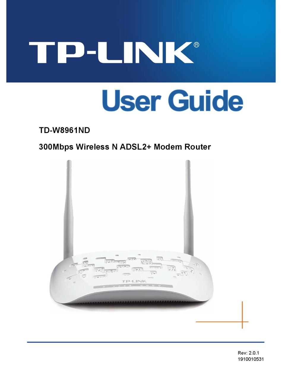 Cara Upgrade Firmware Tp Link Td-w8961n : upgrade, firmware, td-w8961n, TP-LINK, TD-W8961ND, MANUAL, Download, ManualsLib