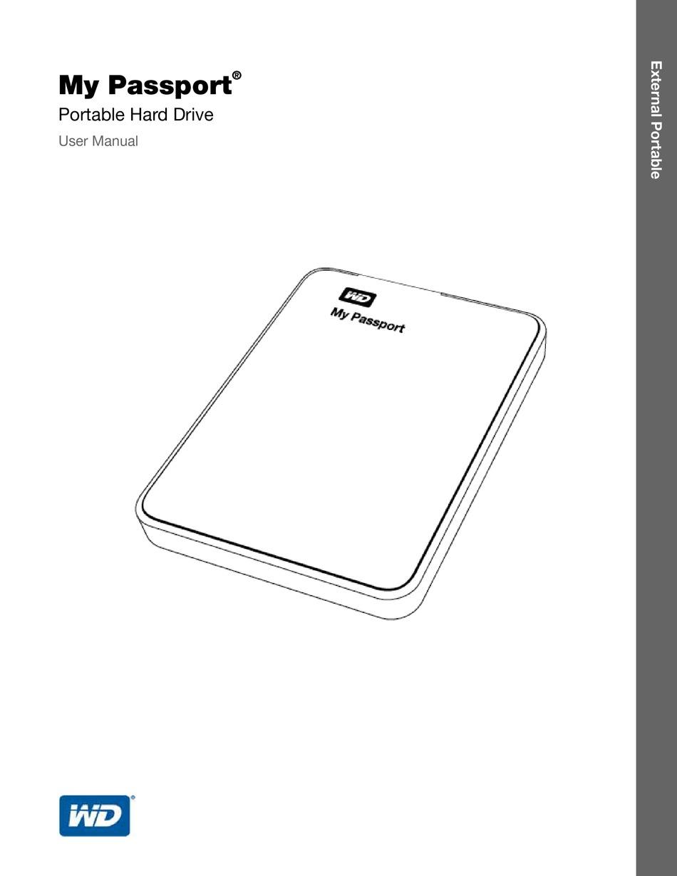 WESTERN DIGITAL MY PASSPORT USER MANUAL Pdf Download