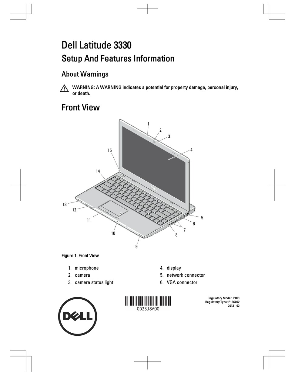 DELL LATITUDE 3330 SETUP AND FEATURES INFORMATION Pdf