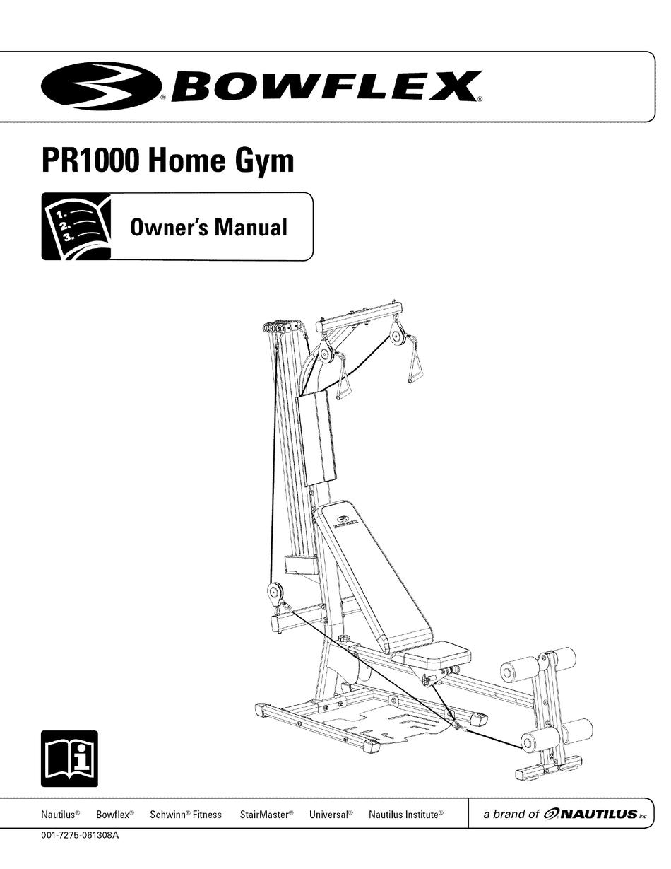 Bowflex Pr1000 Exercises Pdf : bowflex, pr1000, exercises, BOWFLEX, PR1000, OWNER'S, MANUAL, Download, ManualsLib
