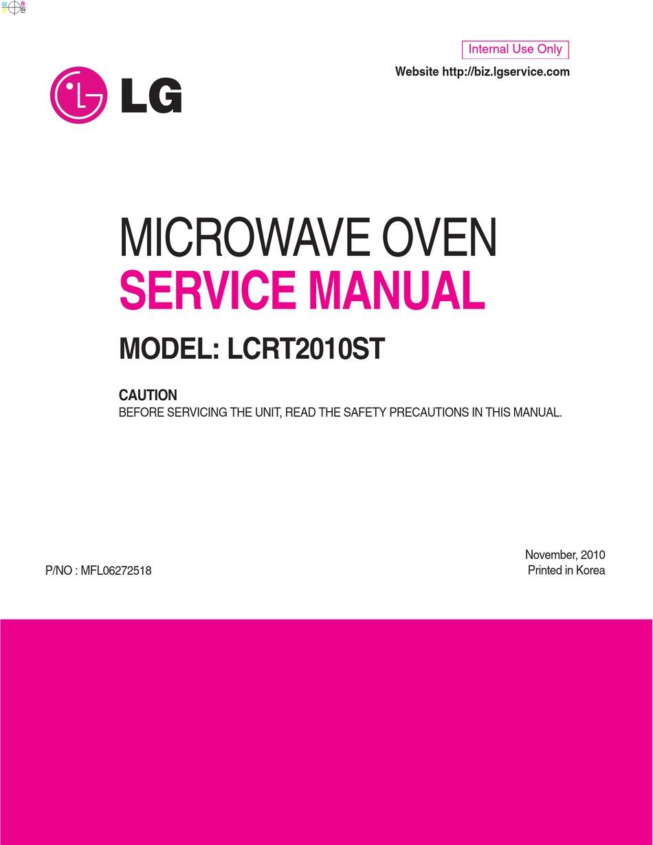 lg lcrt2010st service manual pdf
