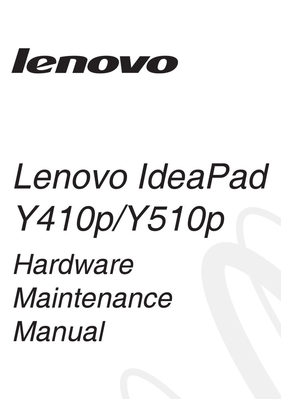 LENOVO IDEAPAD Y410P HARDWARE MAINTENANCE MANUAL Pdf