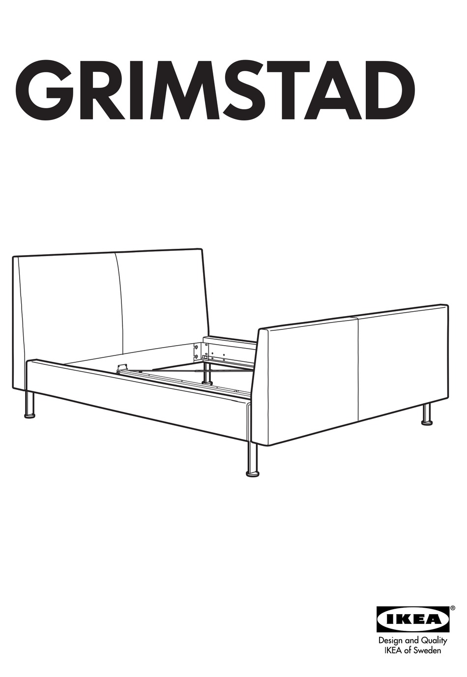 IKEA GRIMSTAD BED FRAME FULL & QUEEN INSTRUCTIONS MANUAL