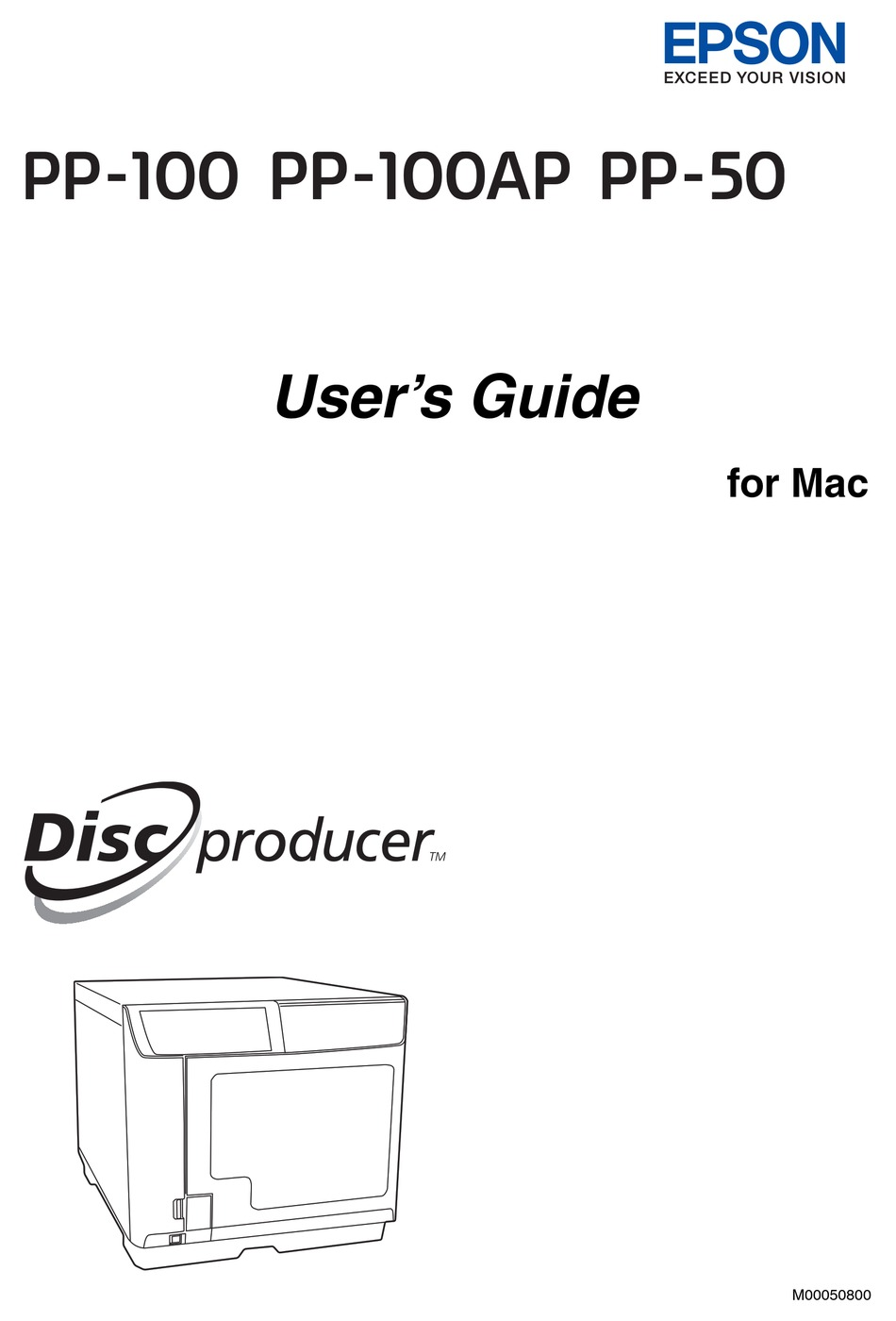EPSON DISC PRODUCER PP-100 USER MANUAL Pdf Download