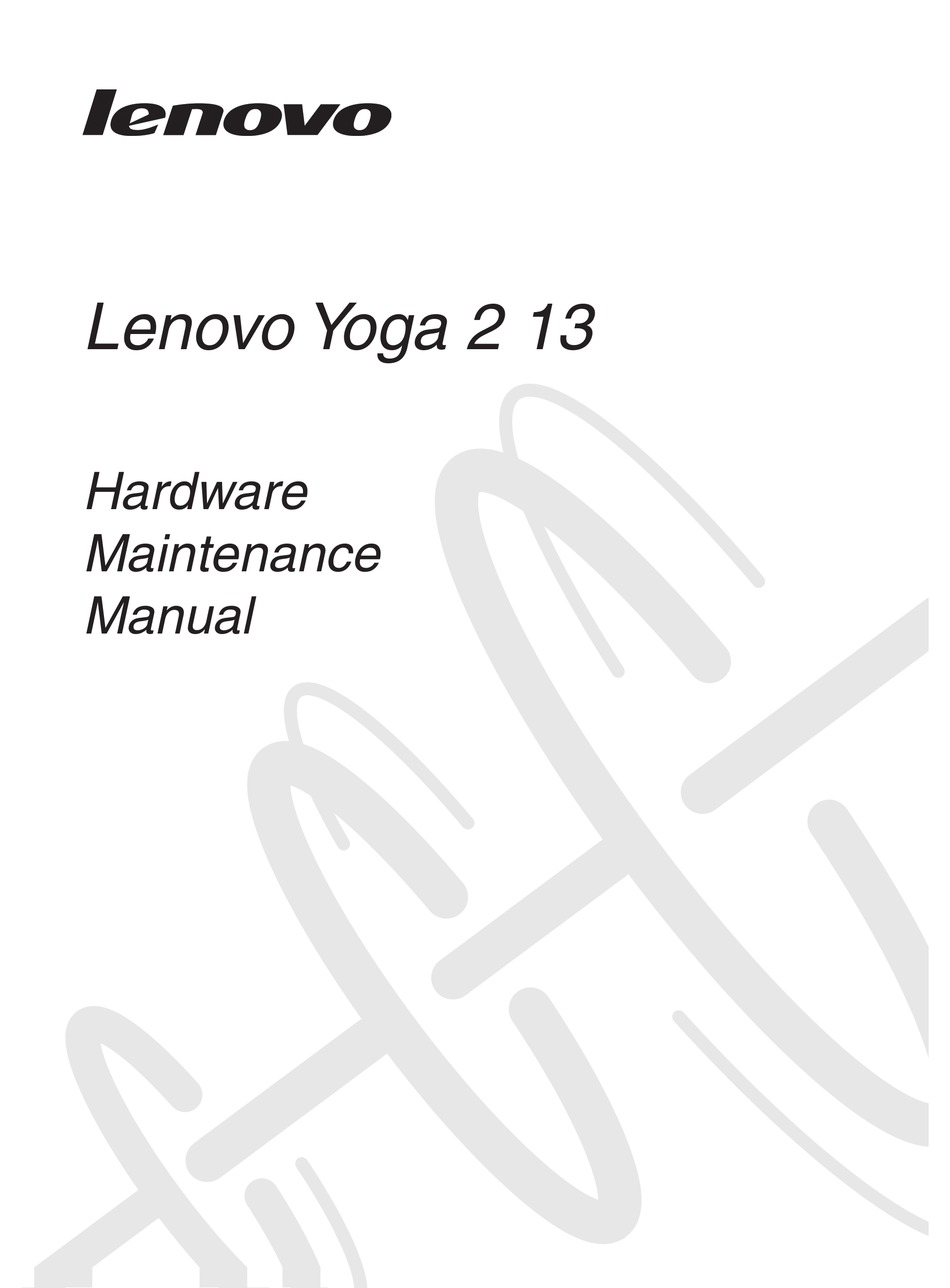 LENOVO YOGA 2 13 HARDWARE MAINTENANCE MANUAL Pdf Download