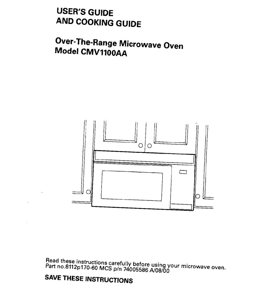 maytag cmv1100aa user manual pdf