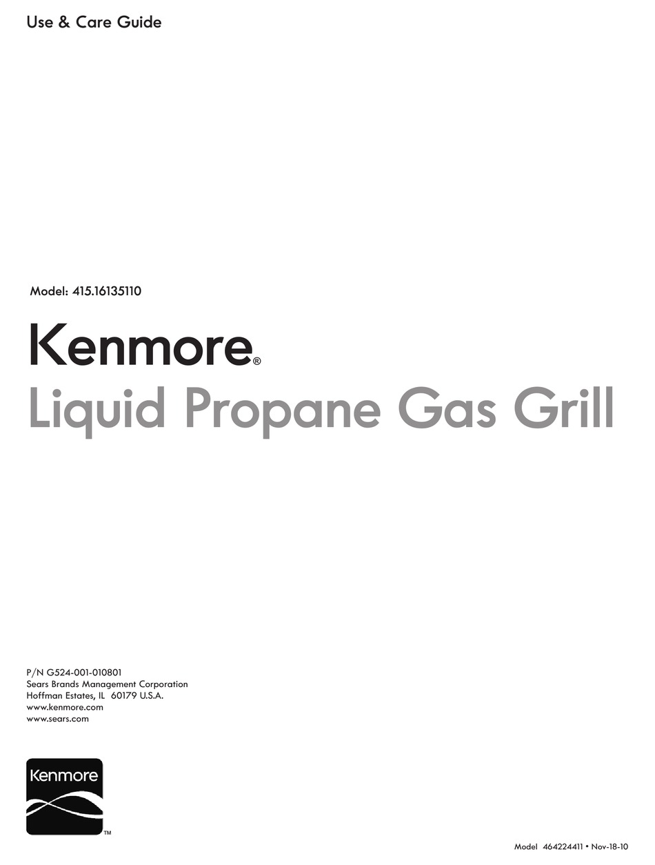 KENMORE 415.16135110 USE & CARE MANUAL Pdf Download