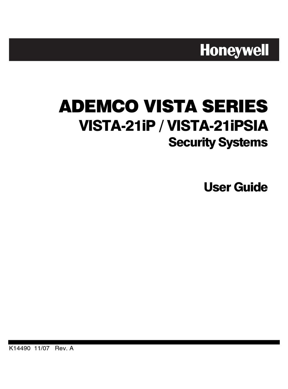 HONEYWELL ADEMCO VISTA-21IP USER MANUAL Pdf Download
