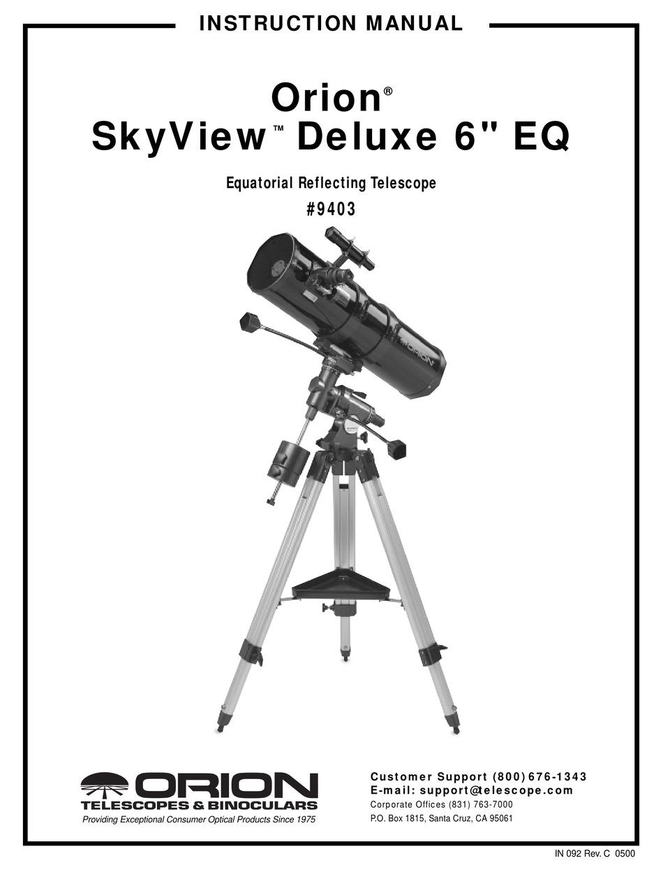 ORION TELESCOPES & BINOCULARS SKYVIEW DELUXE 6 EQ 9403