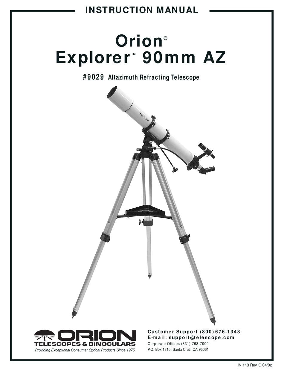 ORION TELESCOPES & BINOCULARS EXPLORER 90MM AZ 9029