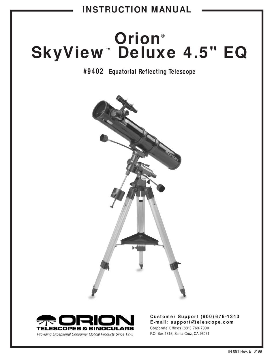 ORION TELESCOPES & BINOCULARS SKYVIEW DELUXE 4.5 EQ 9402