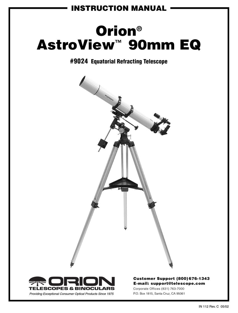 ORION TELESCOPES & BINOCULARS ASTROVIEW 90MM EQ 9024
