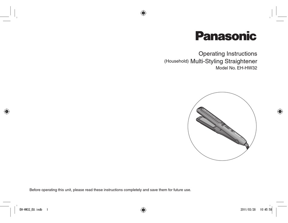 PANASONIC EH-HW32 OPERATING INSTRUCTIONS MANUAL Pdf