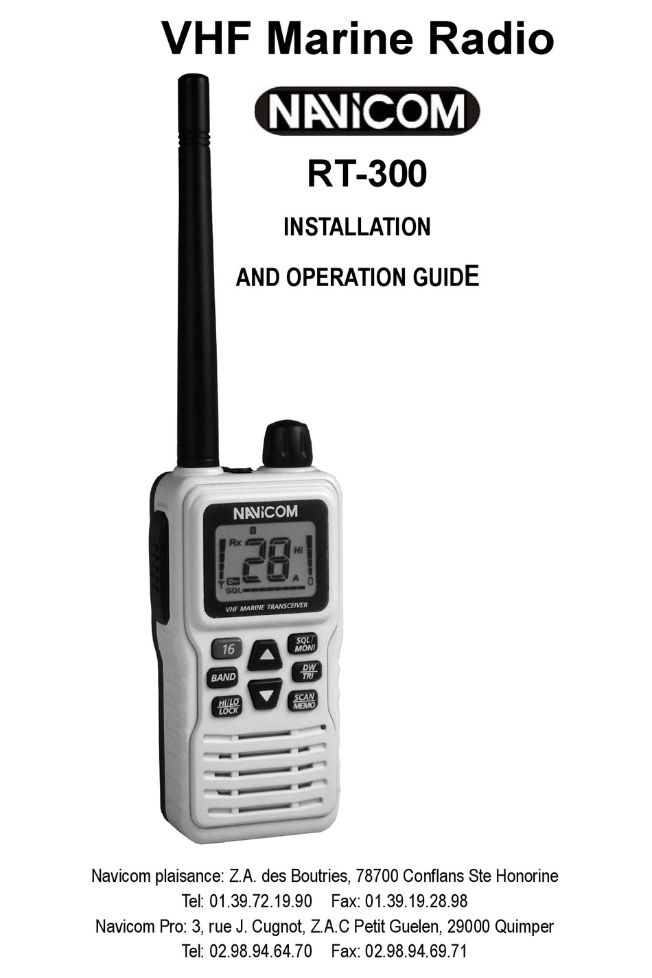 NAVICOM RT-300 INSTALLATION AND OPERATION MANUAL Pdf